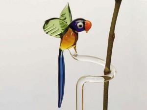 Orchideenstab mit Papagei